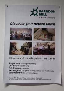 Inspirational and talented artists at Parndon Mill